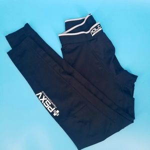 Men's compression leggings, Polo sport,black sz M